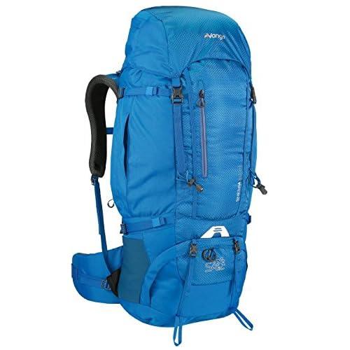 51KKSvNepjL. SS500  - Vango Sherpa 60:70 Litre Rucksack with Shaped Adjustable Harness and Detachable Rain Cover, Black