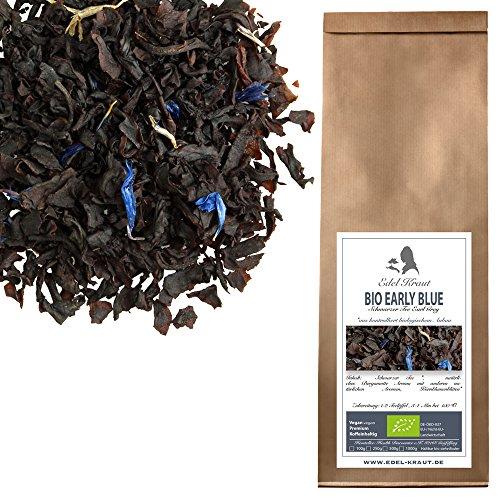 EDEL KRAUT | BIO Schwarzer Tee EARL GREY EARLY BLUE | Premium Black Tea Organic 100g