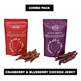 #9: PetSutra Doggie Dabbas Dog Chicken Jerky, Blueberry & Cranberry Flavors, 85 GMS Each, (Combo Pack of 2)