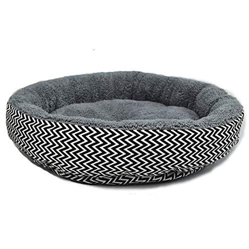 Emorias 1 Pcs Bett für Haustiere rund Flansch Hund Welpen Sofa Katzensofa atmungsaktiv Haustiere