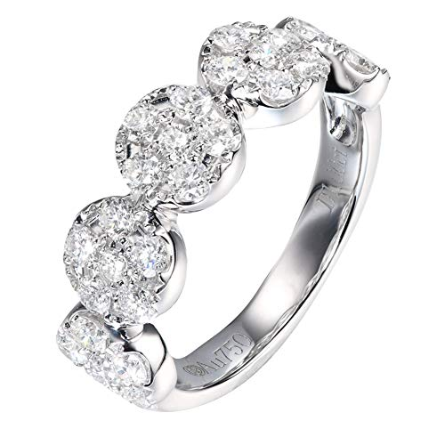 Fine 18k White Gold Diamond Ring verspricht Engagement Ring 1.0cttw für Frauen,20(19.0mm)
