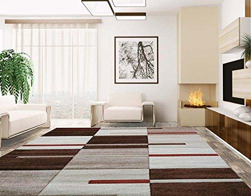 Alfombras Baratas - Alfombra Estilo Moderno, Ideal Para Salones, Comedores - Modelo Marbella 14A, Medidas Rectangulares:60 X 110