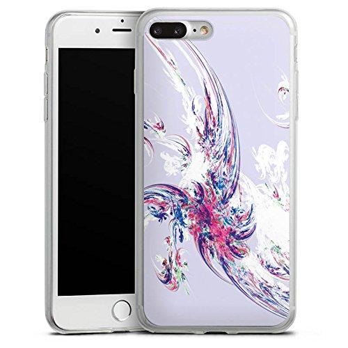 Apple iPhone 8 Plus Slim Case Silikon Hülle Schutzhülle Design Muster Bunt Silikon Slim Case transparent