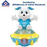 #5: Kurtzy Rotating Rabbit Toy with Music Sound 3D Light Rotation for Baby Children Kids Certified by Bureau of Indian Standards