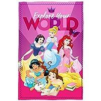 Disney Princesas WD19934 Manta Polar, Ropa de Cama Infantil, 150 Centímetros
