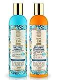 Set 2 Stück, Sanddorn, Oblepikha Shampoo und Haarspülung für strapaziertes Haar, 400ml+400ml,...