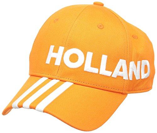 adidas CF 3S Cap HOL – Gorra unisex, color naranja / blanco, talla OSFM