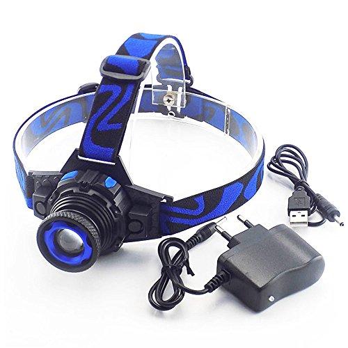 TATX Scheinwerfer Leistungsstarke Q5 LED Front LED Scheinwerfer Scheinwerfer Taschenlampe Wiederaufladbare Taschenlampe Scheinwerfer Eingebautes Ladegerät