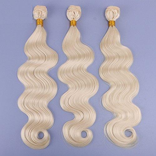 # 613 Couleur 3 Pcs Lot 12-26 pouce Haute température fiber synthétique extensions de cheveux Synthétique Cheveux Weave Vague de Corps Cheveux 100g par Bundle (3 Pc 12\