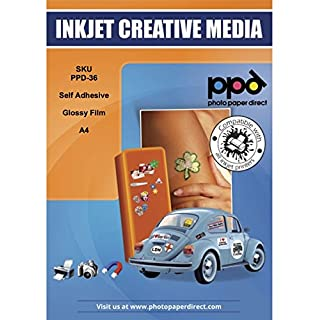 PPD Inkjet Glossy Creative Vinyl Stickers A4 x 10 Sheets (PPD-36-10)