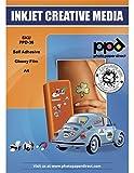PPD DIN A4 Inkjet Vinylfolie ( Aufkleberfolie ) weiß glänzend, selbstklebend, DIN A4 x 10 Blatt PPD-36-10