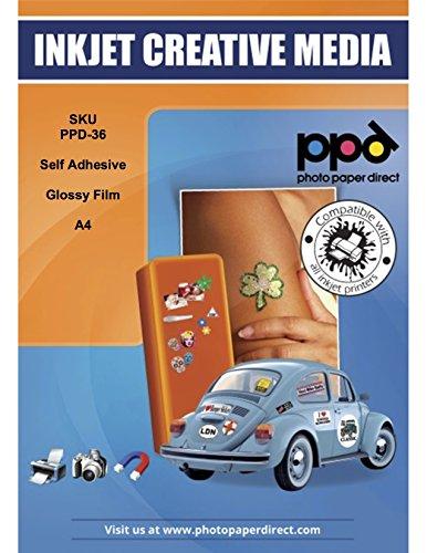 PPD A4 A getto d'inchiostro vinile autoadesivo della pellicola, lucido -10 fogli