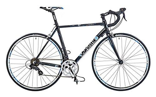 Whistle Creek Mens' Road Bike Gloss Black 14 speed Shimano sti shifters dual pivot qr alloy brakes