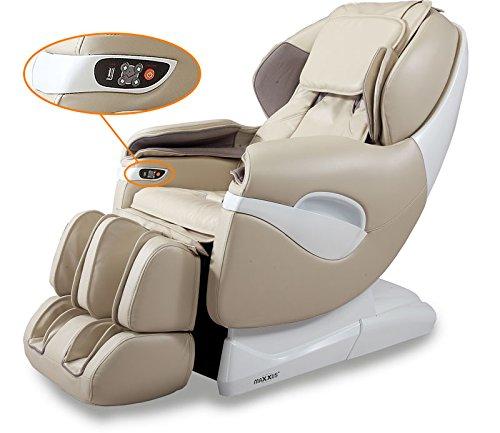 Maxxus® Massagesessel MX 9.0Z mit intelligenter Massage| Farbe Champagner | Rückenmassage | Beinmassage | Arm Massage