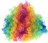 Pop Rainbow Fancy Dress Pop Afro Wigs for Costumes & Outfits Accessory