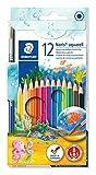 Staedtler - 144 10NC12 - Noris Club Aquarell - Etui Carton 12 Crayons de Couleur
