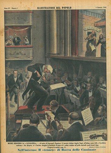 """Muore dirigendo la """"Cavalleria"""" . Al teatro di Guayaquil (Equatore) il maestro italiano Angelo Negri, all'ultima scena della """"Cavalleria rusticana"""" che dirigeva, si e lasciato sfuggire la bacchetta d"""