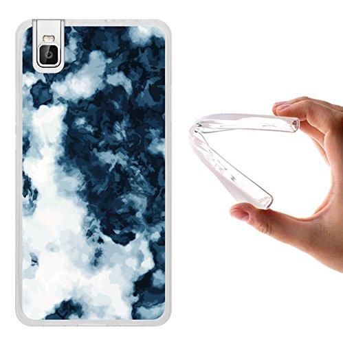 WoowCase Huawei Honor 7i Hülle, Handyhülle Silikon für [ Huawei Honor 7i ] Weißer & Blauer Marmor Handytasche Handy Cover Case Schutzhülle Flexible TPU - Transparent