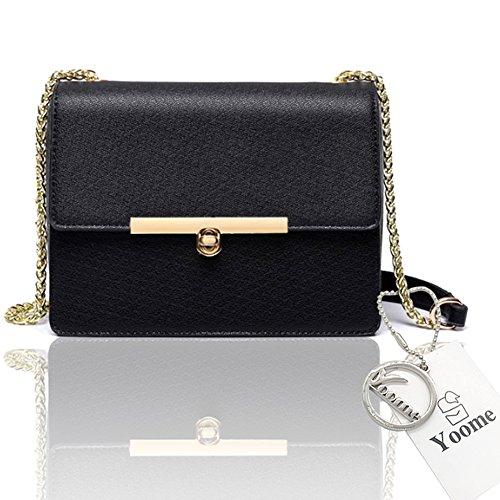 Yoome Street Style Flap Bag Elegante Piccola Catena Piccoli Borse Per Le Donne Nuove Borse Chic Impermeabili - Nero Nero
