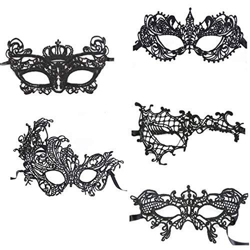 warz Maskerade Maske Sexy Spitze Augenmaske Frau Augen Maske Maskentanzabend Party Halloween Karneval ()
