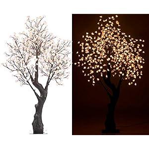 Luminea LED Dekobaum: LED-Deko-Kirschbaum, 576 beleuchtete Blüten, 200 cm, für innen & außen (LEDbaum)