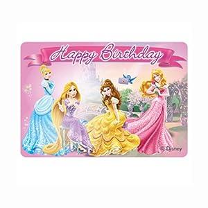 Unique Party Torta Vela Princesas Disney Feliz cumpleaños 9 x 7 cm
