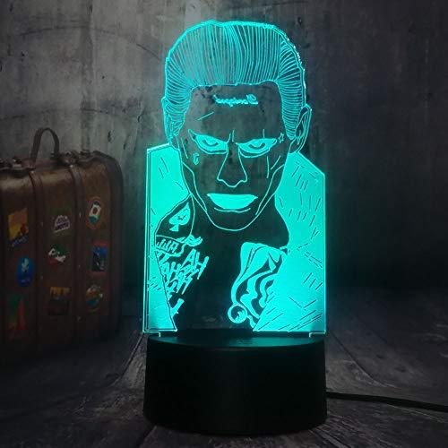 Collectible 7 Que De j Niños 3d Mr Decordc Lamphome Wangzj Color Table Desk Joker Light Led Para Cambia Night kZiuPX
