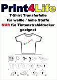 P4L - 15 Blatt A4 T-Shirt Folie Transferfolie Textilfolie Transferpapier klar