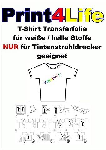 10 feuilles DIN A3 T-shirt transfert de feuille feuille textile transfert de feuille de papier clair / transparent jet d'encre Bügelfolie