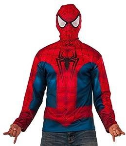 Marvel - Disfraz de Spiderman, Camiseta para adulto, Talla única (Rubie