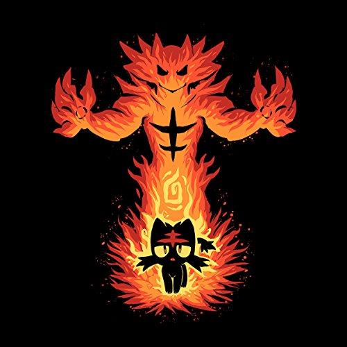 Inner Fire Cat Incineroar Litten Pokemon Men's Vest Black
