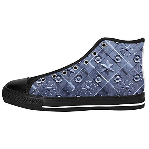 Dalliy Metal Men's Canvas shoes Schuhe Lace-up High-top Sneakers Segeltuchschuhe Leinwand-Schuh-Turnschuhe D