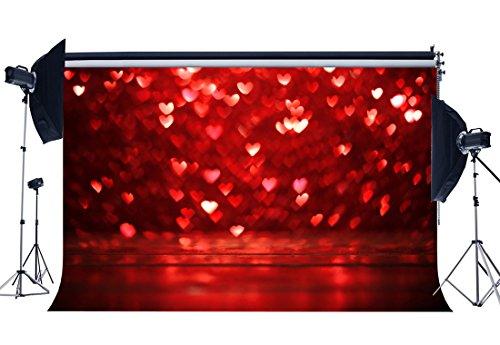 Sunny Star 7x 150/210x 150cm Vinyl Fotografie Hintergrund Valentine 's Day Bokeh Halos rot Glitzer Herzen Hochzeit Hintergründe nahtlos Baby Kinder Lover Portraits Hintergrund Foto Studio Requisiten CA676