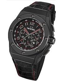 TW Steel Herren-Armbanduhr XL CEO TECH Chronograph Quarz Leder TWCE4009