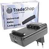 Universal Ladegerät Ladestation Tischlader für Li-Ion 3,7V Akku bis 6,5cm, Ladeschale 360° drehbar passend für viele Smartphone Handy Digitalkamera Akkus