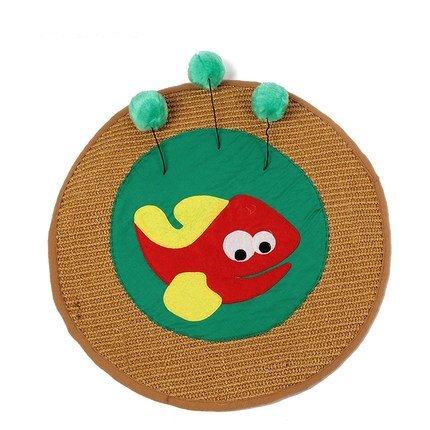 Sisal Teppich Cat Scratch Platte lässt kleine Fische tragen Krallen Spielzeug für (In Schüssel Fisch Eine Kostüm)