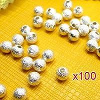 Sonline 100 pz pallini placcati in argento