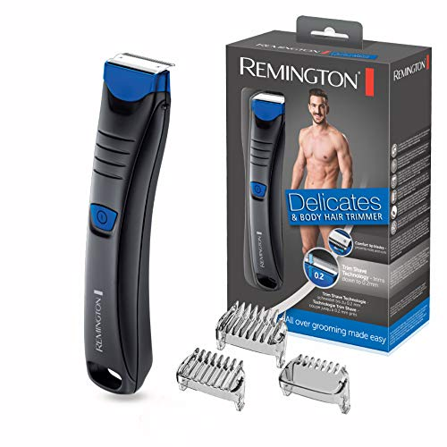 Remington Delicates & Body Hair Trimmer BHT250, Trim-Shave-Technologie, Nass- und Trockenanwendungen, schwarz (Norelco)