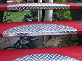 Treppenstufe-SET ALU, 60 x 18 cm, halbrund, glänzend (15 Stück = 1 VE)