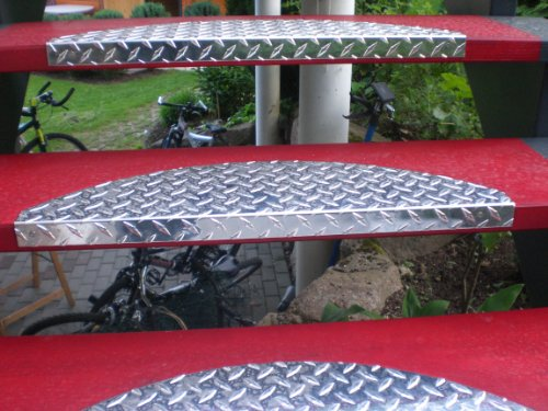 Treppenstufe-SET ALU, 60 x 18 cm, halbrund, glänzend (5 Stück = 1 VE)