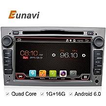 7inch Quad Core Android 6.0Radio estéreo de coche para Opel Vauxhall Astra H, Corsa D Vectra C aatara apoyo unidad principal dvd gps navegación Aux WiFi Cámara de retroceso screenmirror OBD2DAB + (gris)
