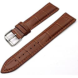 SZTARA Fashion Crocodile Genuine Leather Watch Bands Brown Watch Straps