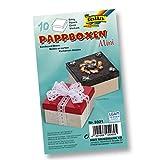 Papp-Boxen MINI 10 Stück - ECKIG 7,5x7,5x4,5cm NATUR