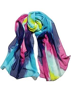 zolimx Bufanda de las mujeres, Tinta china estilo abrigo bufanda gasa