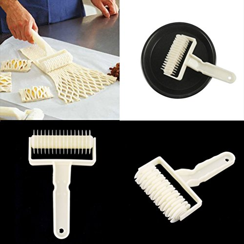 Gugutogo Cookie Pie Pizza Bread Pastry Cake Ribbon Embosser Roller Cutter Mold DIY