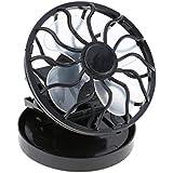 New Portable Mini Fun Energy Saving Clip-on Solar Cell Fan Sun Power Energy Panel Cooling for Traveling/Fishing/Climbing Black