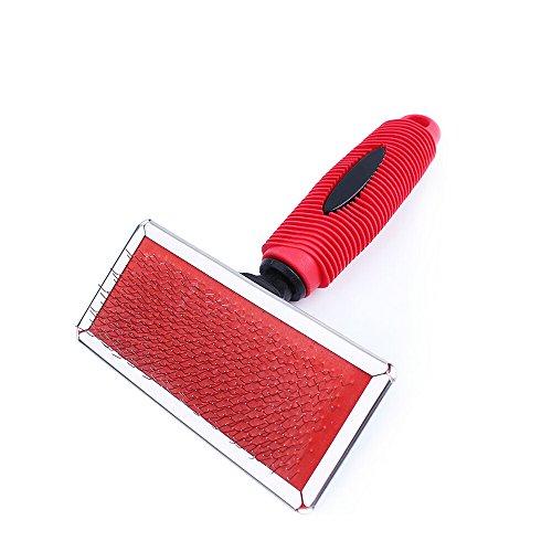 Ecloud Shop® Cómoda plástica suave mango del cepillo de airbag Pet