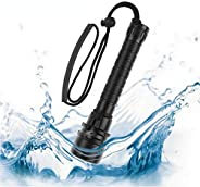 ALLPEN Waterproof 50000LM 3xT6 LED Scuba Diving Flashlight Underwater 100M Torch