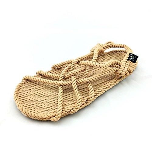 Nomadics JC with sole sandale de corde mixte adulte Camel