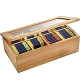 Westmark Teebox mit 8 Fächern, Maße: 28 x 16 x 9 cm, Bambus, Hellbraun, 15742260